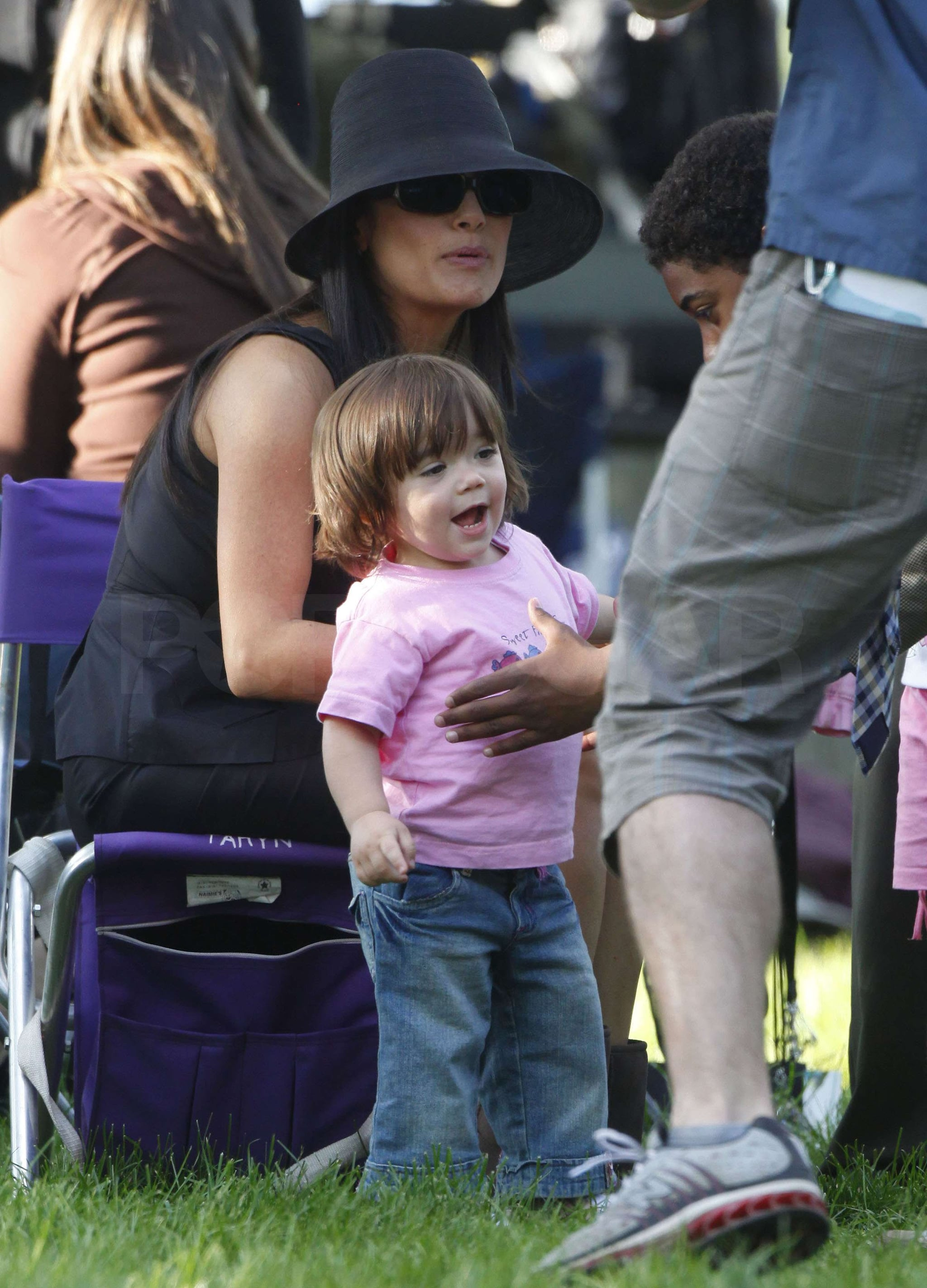 Photos of Salma Hayek and Valentina Pinault on the Set of ...