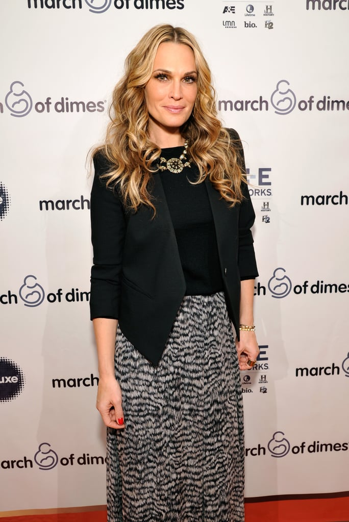 Molly Sims posed for pictures at the March of Dimes luncheon.