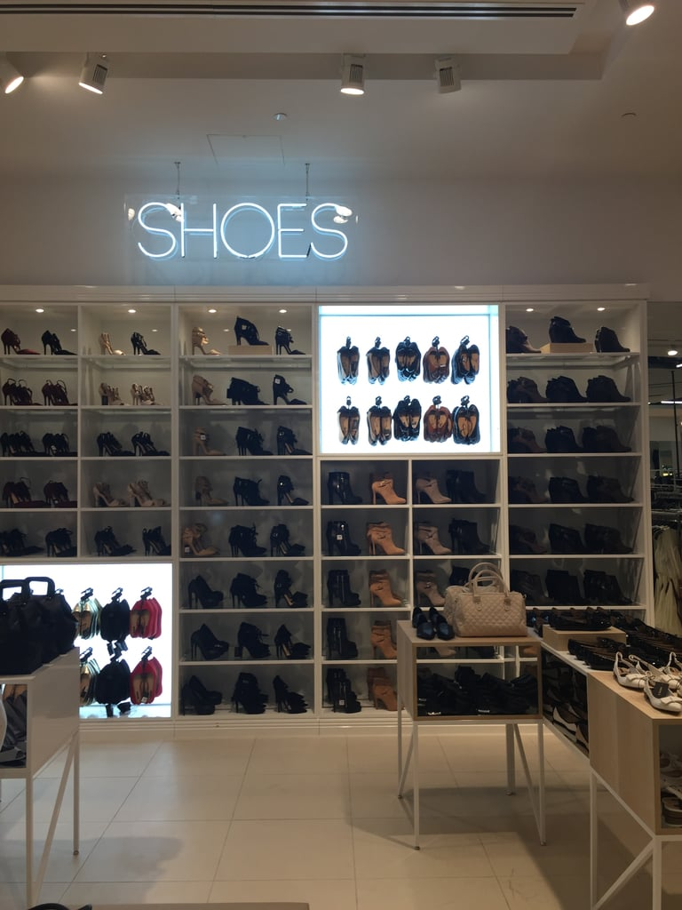 The shoe section is beautifully laid out