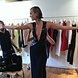 If this is how good Karlie Kloss looks while getting dressed, we can only imagine how she's going to look when she hits the carpet!  Source: Instagram user cushnieetochs