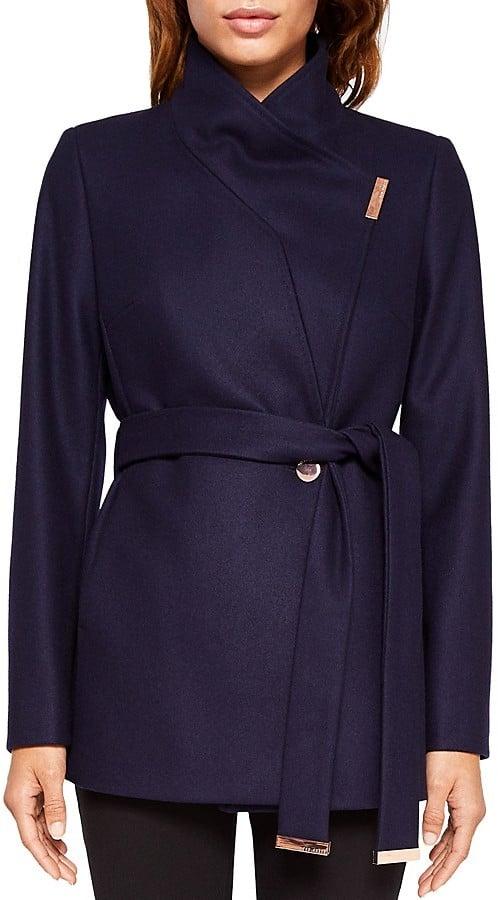 good superior quality factory authentic Ted Baker Keyla Short Wrap Coat | Meghan Markle's Coats | POPSUGAR ...