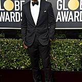 Kerry Washington and Nnamdi Asomugha at 2018 Golden Globes