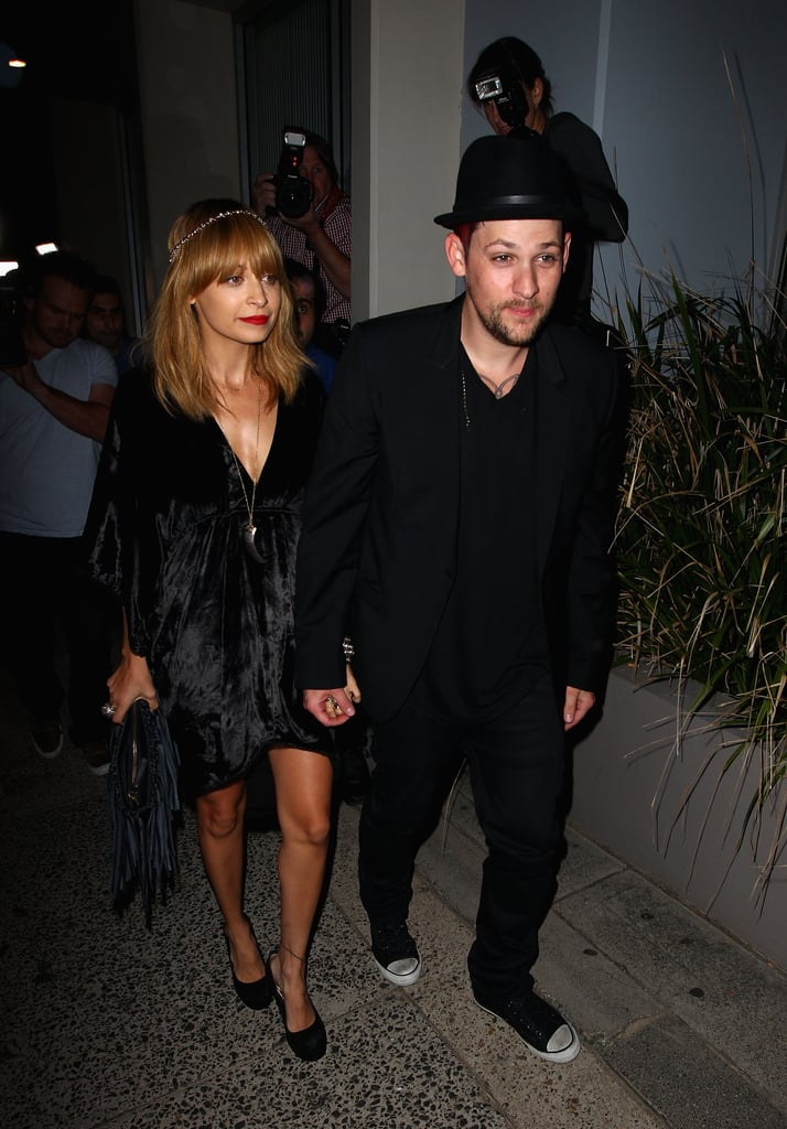 Nicole Richie and Joel Madden got dressed up for a party for The Voice Australia in Sydney.