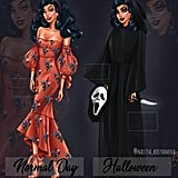 Disney's Esmerelda as Ghostface From Scream
