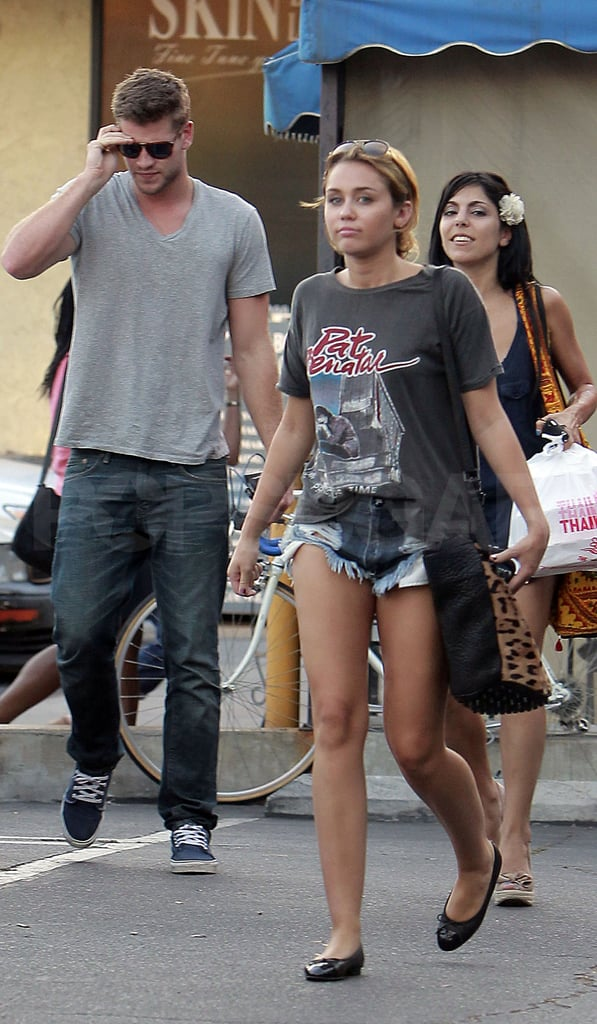 Miley led the way for Liam.