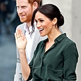 Prince Harry Kisses Female Fan's Hand in Brighton 2018