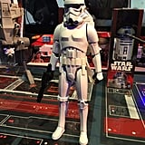 More than just a 12-inch figurine, Hasbro's Star Wars InteracTech Stormtrooper actually reacts to movement with lights and sounds thanks to his built-in motion sensors. He actually talks to tots thanks to 70 sound effects embedded in him, and just wait until you put a blaster in his hands — that's when an Imperial insignia lights up on his chest and he starts making blaster sounds! This is truly one of the coolest toys we saw at the event.