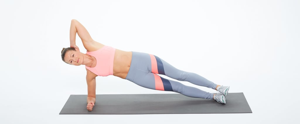 Oblique Exercise: Side Elbow Plank With Twist
