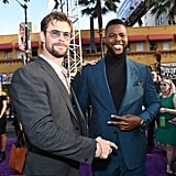 Pictured: Chris Hemsworth and Winston Duke