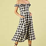 Reformation Hattie Off the Shoulder Linen Dress
