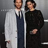 Matthew McConaughey hit the red carpet with Camila Alves at the NYC premiere of Interstellar on Monday.