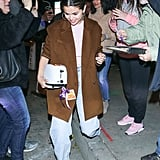 Selena Gomez Wears a Light Pink Turtleneck Twice in 1 Week