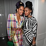 Regina King and Janelle Monae at Diddy's 50th Birthday Party