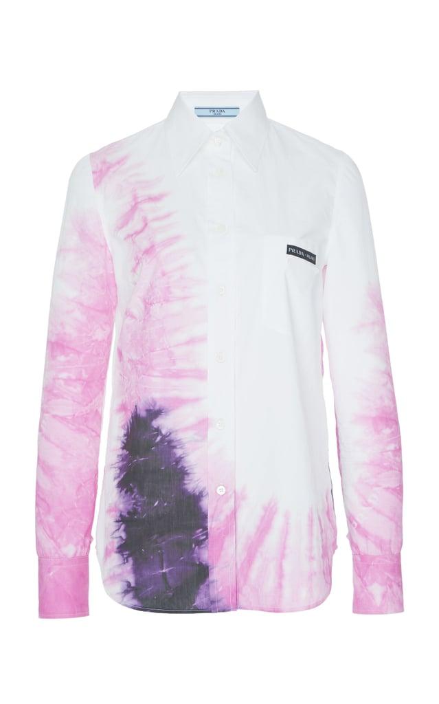 Prada Tie-Dye Cotton-Poplin Shirt