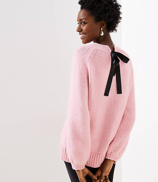 Tie Back Drapey Sweater