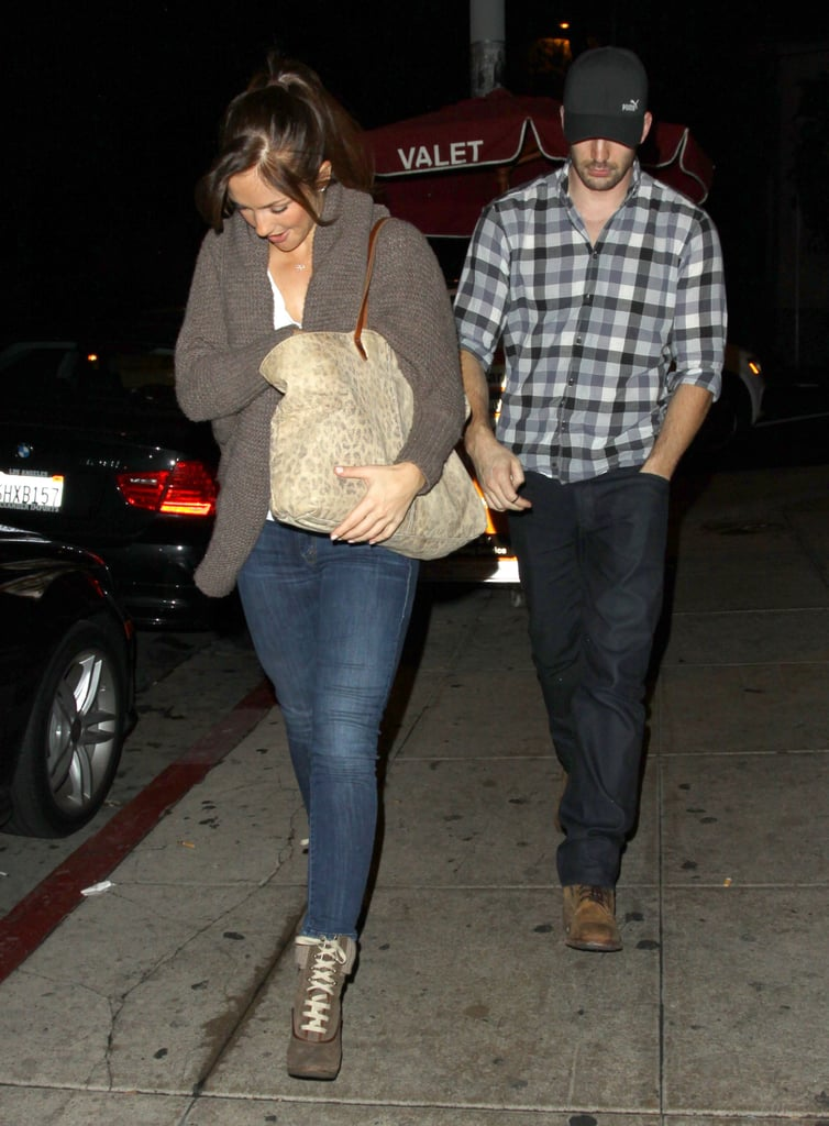 Chris Evans and Minka Kelly met up for dinner at Sushi Stop in Los Feliz, CA, last night. The couple were first spotted getting romantic over the Summer. Chris and Minka actually dated back in 2007, and it looks like they've rekindled their relationship following Minka's split from Derek Jeter.  Earlier this week, Chris got to work filming A Many Splintered Thing with Topher Grace. He's also signed on for Avengers 2, which will be written and directed by Joss Whedon. Chris will first reprise his superhero role in Captain America: The Winter Soldier alongside Scarlett Johansson, Samuel L. Jackson, and newcomer to the franchise, Anthony Mackie.