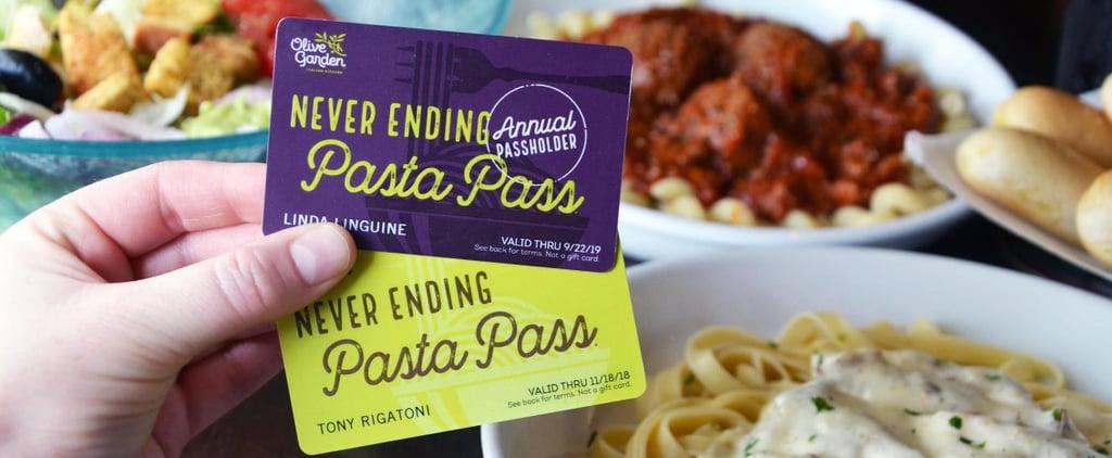 Olive Garden Pasta Pass Deal 2018