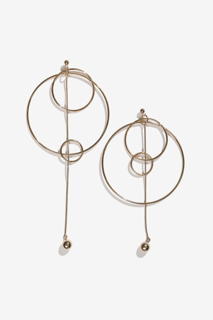 A contemporary update on the classic hoop comes in the form of these Adornmonde multihoop earrings ($82).