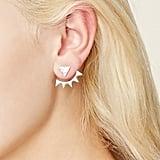 Forever 21 Geo Rhinestone Ear Jackets
