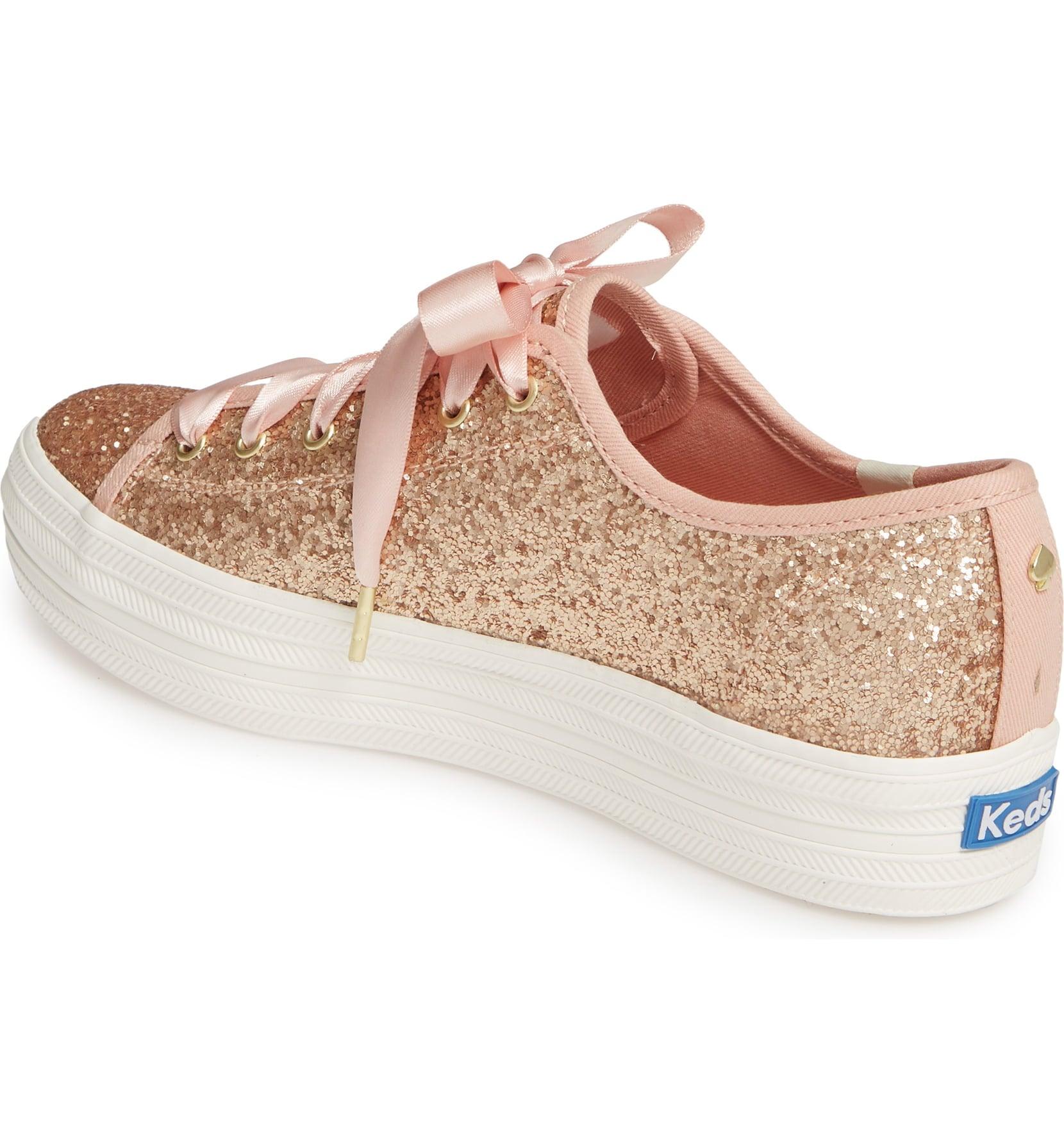 kate spade rose gold sneakers
