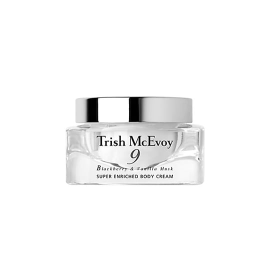 Smooth, and add some serious shimmer, with Trish McEvoy's #9 Body Cream ($58).