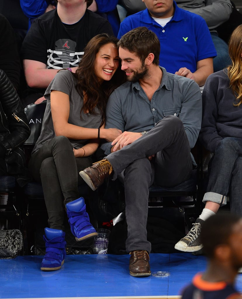 Chace Crawford Cuddles Up to a Model For Courtside PDA