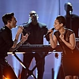 Adam Levine and Alicia Keys