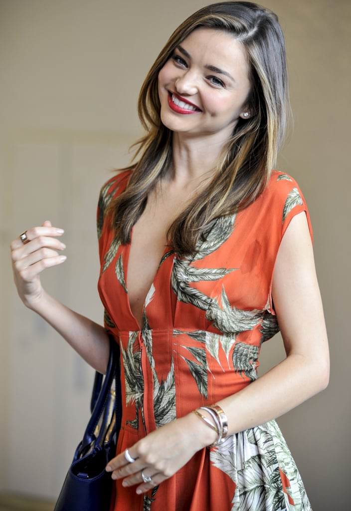 Miranda Kerr was met by a crowd of thousands when she landed in Tokyo, Japan, on July 18.