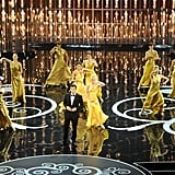 Seth MacFarlane performed a musical number at the 2013 Oscars.