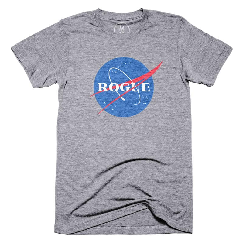 """Rogue NASA T-Shirt ($32)  """"All of Rogue NASA's proceeds from this sale will be split between Girls Who Code and the National Math + Science Initiative."""""""