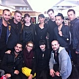 The Nars artistry team backstage at Christopher Kane. Source: Twitter user NARSJennySmith