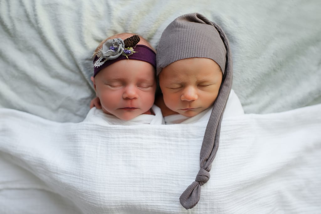 Newborn Photoshoot Taken Before 1 Twin Passed Away