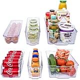 Adorn Home 6 Piece Refrigerator/Freezer Organizer Bins