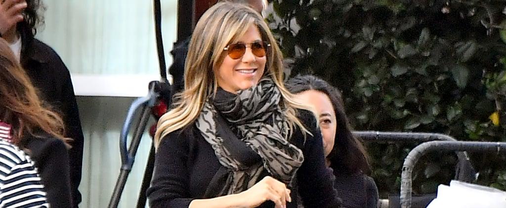 Jennifer Aniston's Aviator Sunglasses April 2019