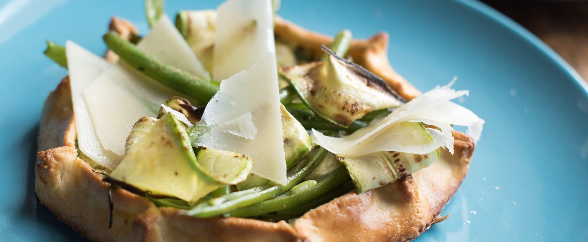 Green Vegetables & Ricotta Tart With Parmesan Crust