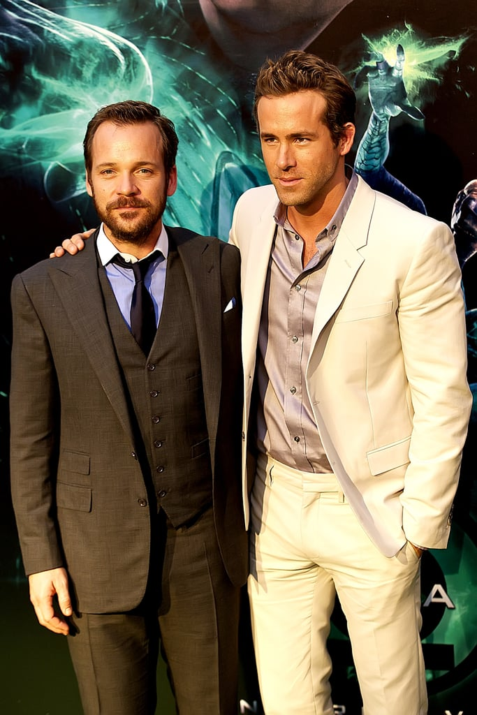 Ryan Reynolds and Peter Sarsgaard teamed up in Madrid yesterday for the Spanish debut of Green Lantern. The superhero movie opened in the USA in late June, taking the top box-office spot in its first weekend of release, but is just now hitting some European countries. Peter and Ryan didn't have their leading lady Blake Lively along for their trip overseas, since she's already back to work  shooting Gossip Girl. Blake, Ryan, and Peter all joined forces at the LA premiere of Green Lantern earlier this Summer, where Ryan dished to us on Blake's impressive baking skills. Ryan's continued promotional duties for the action film are overlapping with his press rounds for his body-swap comedy The Change-Up, which hits theaters in early August.