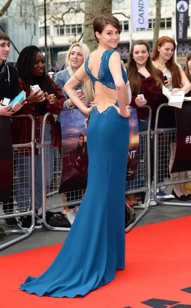 Shailene at the London Divergent Premiere