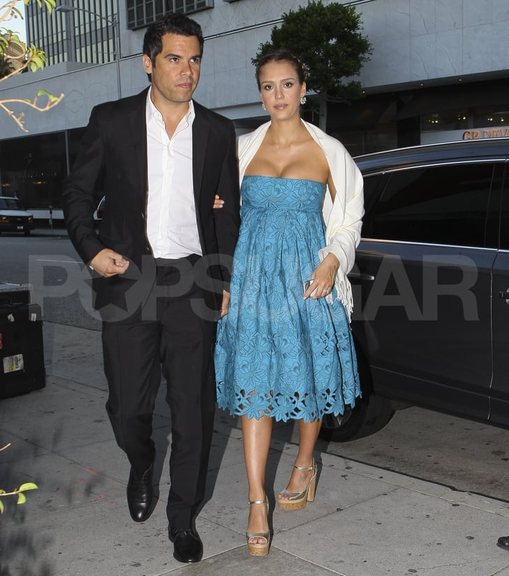 jessica alba and cash warren head to katherine powers