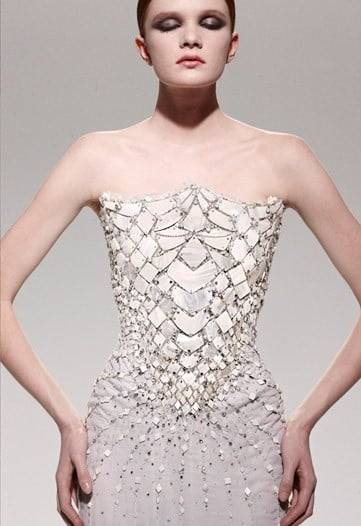 Mother-of-Pearl Evening Dress
