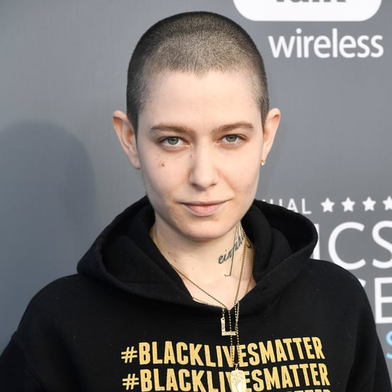 Asia Kate Dillon's Sweatshirt at Critics' Choice Awards 2018