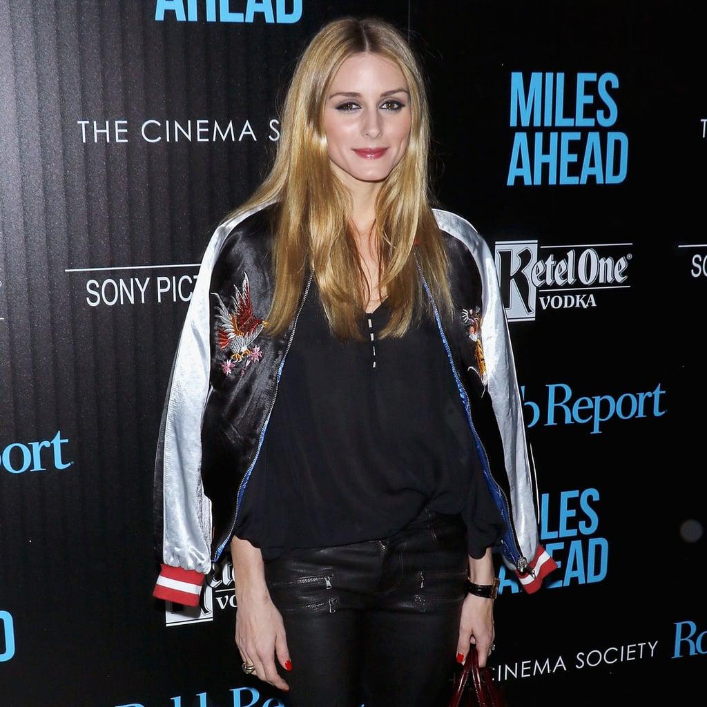 Olivia Palermo Wearing a Bomber Jacket