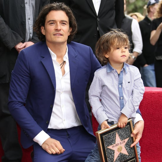Orlando Bloom and Flynn at the Hollywood Walk of Fame
