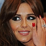Cheryl went for the vamp look in red nails.