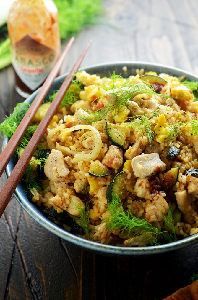 Chipotle chicken fried rice chicken and rice recipes for Gazelle cuisine n 13