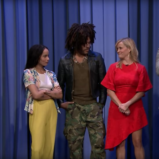 Reese Witherspoon, Lenny Kravitz, and Zoë Kravitz on Fallon