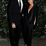 David Beckham and Victoria Beckham coupled up at the Global Fund party.