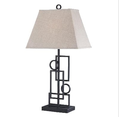 The Plato Contemporary Table Lamp ($140) is a straightforward take on geometric shapes.