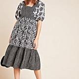 Adrienne Flounced Midi Dress