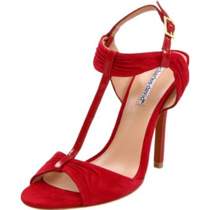 Dress up your Summer LBD with a sultry pop of red. Charles David Women's Society T-Strap Sandal ($195)