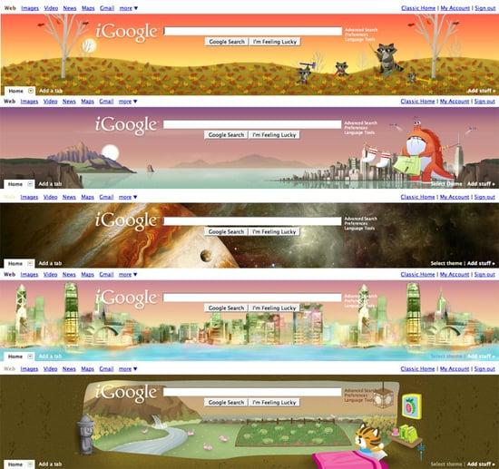 Google, iGoogle, iGoogle Themes